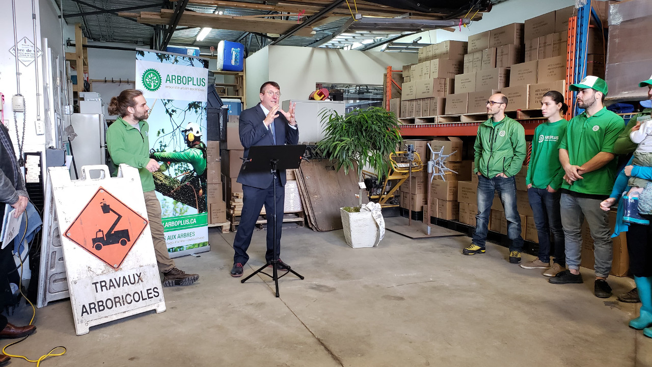 Arboplus - Conférence de presse - Acquisition de Novafor arboriculture - Éric Lanthier